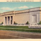The J.B. Speed Memorial Museum in Louisville Kentucky KY Linen Postcard - 0227