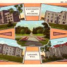 Multi Views of the University of Wyoming in Laramie WY Linen Postcard - 0300