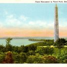 Floyd Monument at Floyd Park in Sioux City Iowa IA Curt Teich Linen Postcard - 0327