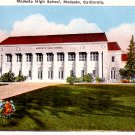 Modesto High School in California CA Vintage Postcard - 0343