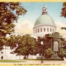 Chapel at U.S. Naval Academy in Annapolis Maryland MD Linen Postcard - 0347