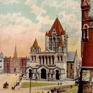 Trinity Church in Boston Massachusetts MA, Raphael Tuck & Sons Vintage Postcard - 0374