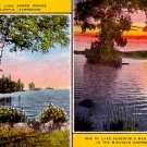 Lake Shore Drives in Keweenaw Michigan MI Linen Postcard - 0456