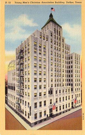 YMCA Building in Dallas Texas TX 1943 Curt Teich Linen Postcard - 0472