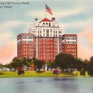 Lake Cliff Showing the Cliff Towers Hotel in Dallas Texas TX Linen Postcard - 0473