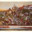 Westward Ho! by Emanuel Leutze Curt Teich Vintage Postcard - 0546