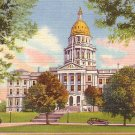 State Capitol of Denver Colorado CO Curt Teich 1934 Linen Postcard - 0612
