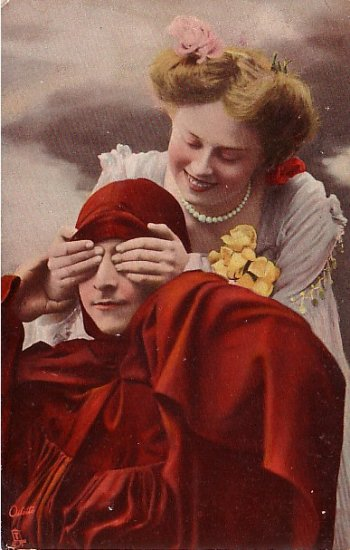 Raphael Tuck Vintage 1907 Postcard The Gentle Art of Making Love - 0615