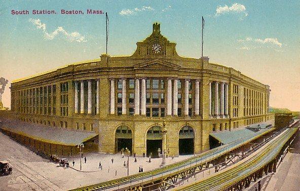 South Train Station in Boston Massachusetts MA Vintage Postcard - 0630