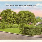 Arched Bridge at Belle Isle in Detroit Michigan MI Linen Postcard - 0649
