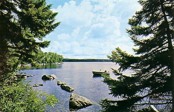 Mount Kineo on Moosehead Lake in Kineo Maine ME Chrome Postcard - 0702