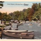 River Scene at Gordon Park in Cleveland Ohio OH Vintage Postcard - 0717