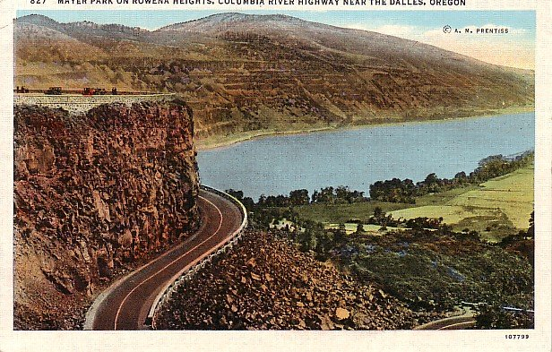 Mayer Park on Rowena Heights Columbia River Highway near The Dalles Oregon OR Postcard - 0876
