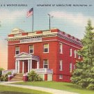 U.S. Weather Bureau at Burlington Vermont VT Linen Postcard - 0879