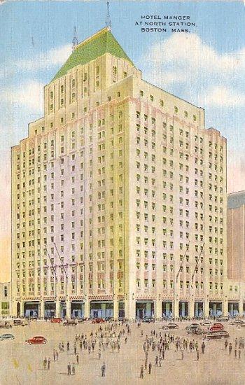 Hotel Manger at North Station in Boston, 1947 Massachusetts MA Linen Postcard - 0880