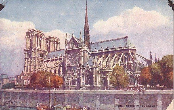 Raphael Tuck & Sons, Notre Dame in Paris France Vintage Postcard - 0899