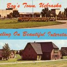 Boys Town Off Interstate 80 in Omaha Nebraska NE Chrome Postcard - 0923