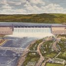 Grand Coulee Dam 1948 Curt Teich Linen Washington WA Postcard - 0959
