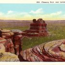 Chimney Rock near Laramie Wyoming WY Linen Postcard - 1120