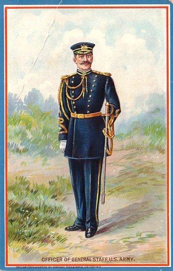 Officer of General Staff U S Army Vintage Military Raphael Tuck & Sons Postcard - 1150