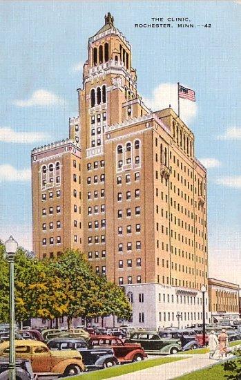 The Clinic at Rochester Minnesota MN Linen Postcard - 1173