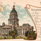 Art Nouveau Vintage Postcard of the Illinois IL State Capitol in Springfield - 1206
