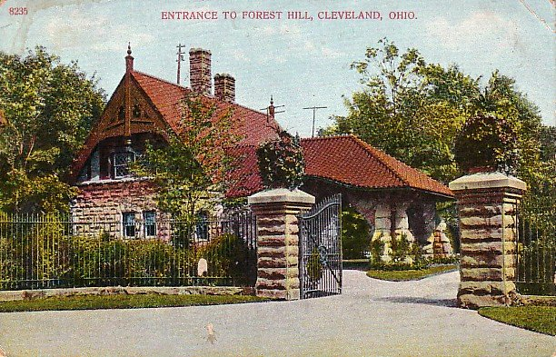 Entrance to Forest Hill in Cleveland Ohio OH, 1907 Vintage Postcard - 1208