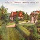 Gate House in Shaw's Garden at St. Louis Missouri MO Vintage Postcard - 1261