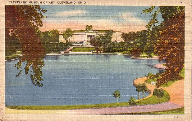 Museum of Art in Cleveland Ohio OH 1938 Linen Postcard - 1268