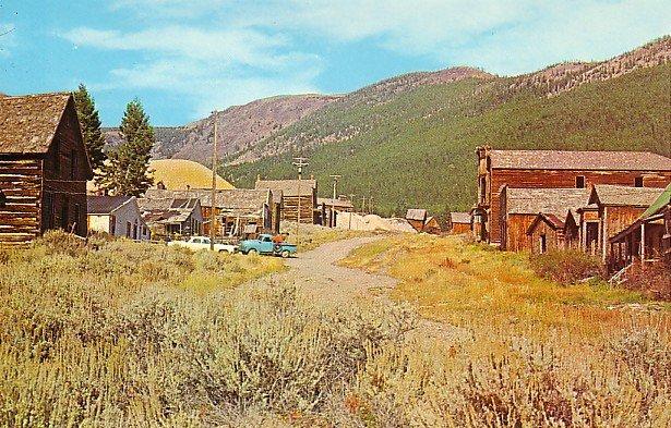 1872 Former Mining Camp in Elkhorn Montana MT Chrome Postcard - 1287