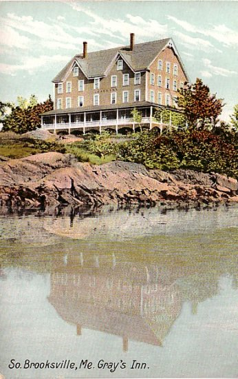 Grays Inn  in South Brooksville Maine ME, Vintage Postcard - 1449