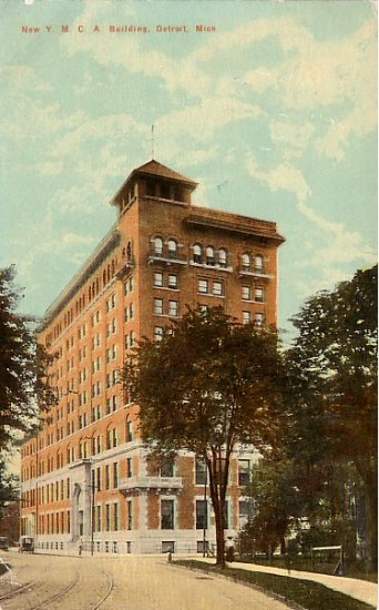 YMCA Building in Detroit Michigan MI Vintage Postcard - 1518