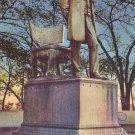 Lincoln Memorial in Lincoln Park, Chicago Illinois IL Linen Postcard - 1528