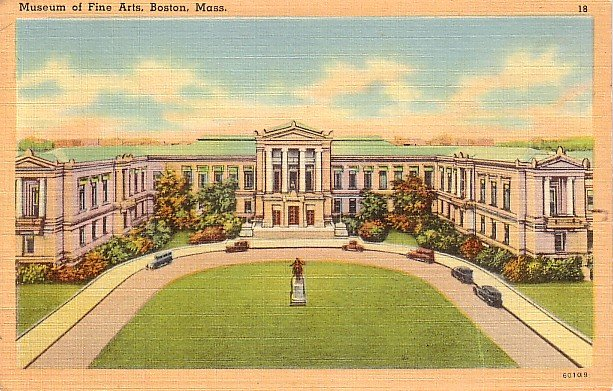 Museum of Fine Arts at Boston Massachusetts MA Linen Postcard - 1551