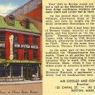 Union Oyster House Boston Massachusetts MA Linen Advertising Postcard - 1556