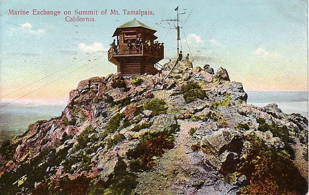 Marine Exchange on Mt Tamalpais in California CA 1909 Postcard - 1559