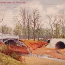 Three Bridges at Forest Park in St. Louis Missouri MO 1910 Postcard - 1610