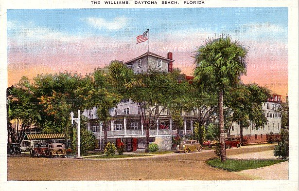 The Williams Hotel in Daytona Beach  Florida FL Mid Century Linen Postcard - 1640