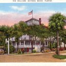 The Williams Hotel in Daytona Beach  Florida FL Mid Century Linen Postcard - 1640