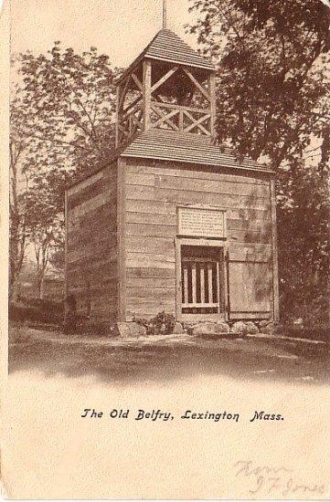 The Old Belfry in Lexington Massachusetts MA Vintage Postcard - 1701