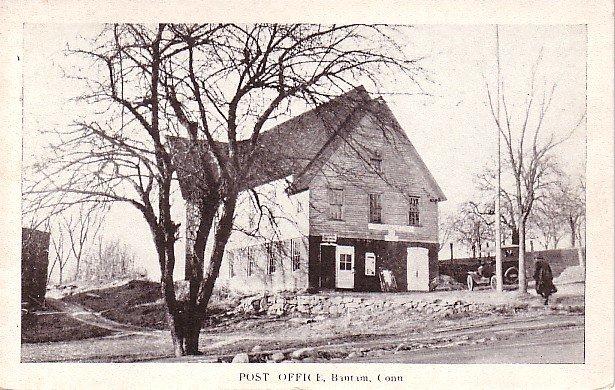 Post Office at Bantam Connecticut CT Vintage Postcard - 1702