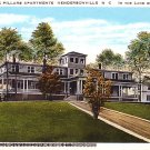 The Pillars Apartments in Hendersonville North Carolina NC Curt Teich Vintage Postcard - 1721