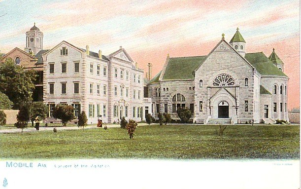 Convent of the Visitation in Mobile Alabama AL Raphael Tuck & Sons Vintage Postcard - 1726