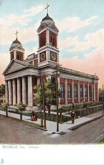 Cathedral in Mobile Alabama AL Raphael Tuck & Sons Vintage Postcard - 1728