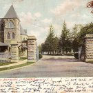 Entrance to Fairmount Cemetery in Newark New Jersey NJ 1910 Vintage Postcard - 1756