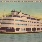 The Admiral Excursion Boat near St. Louis Missouri MO Vintage Postcard - 1827