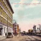 Fourth Street Looking East from Broadway at Pittsburg Kansas KS 1909 Postcard - 1831