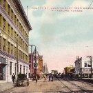 Fourth Street Looking East from Broadway at Pittsburg Kansas KS 1909 Postcard - 1831