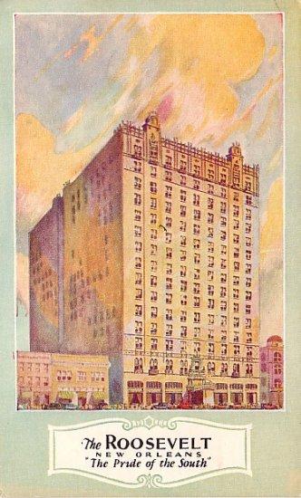 The Roosevelt Hotel in New Orleans Louisiana LA Vintage Postcard - 1834