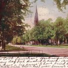 Broadway, Central Park and Methodist Church at Winona Minnesota MN 1905 Vintage Postcard - 1835